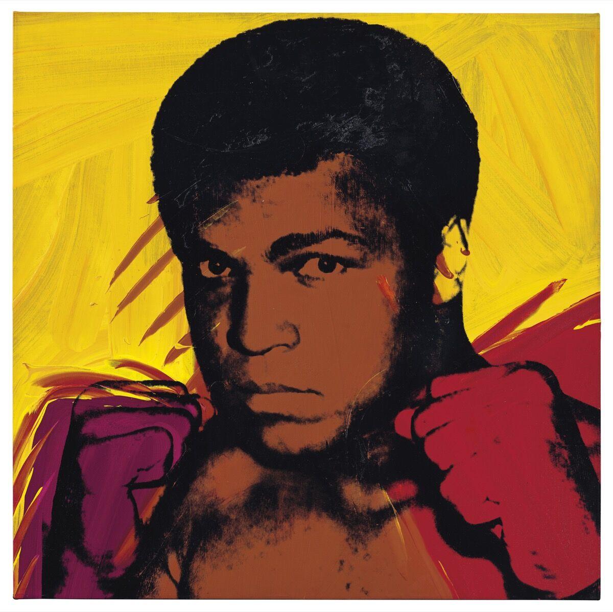 Andy Warhol, Muhammad Ali, 1977. Courtesy of Christie's.