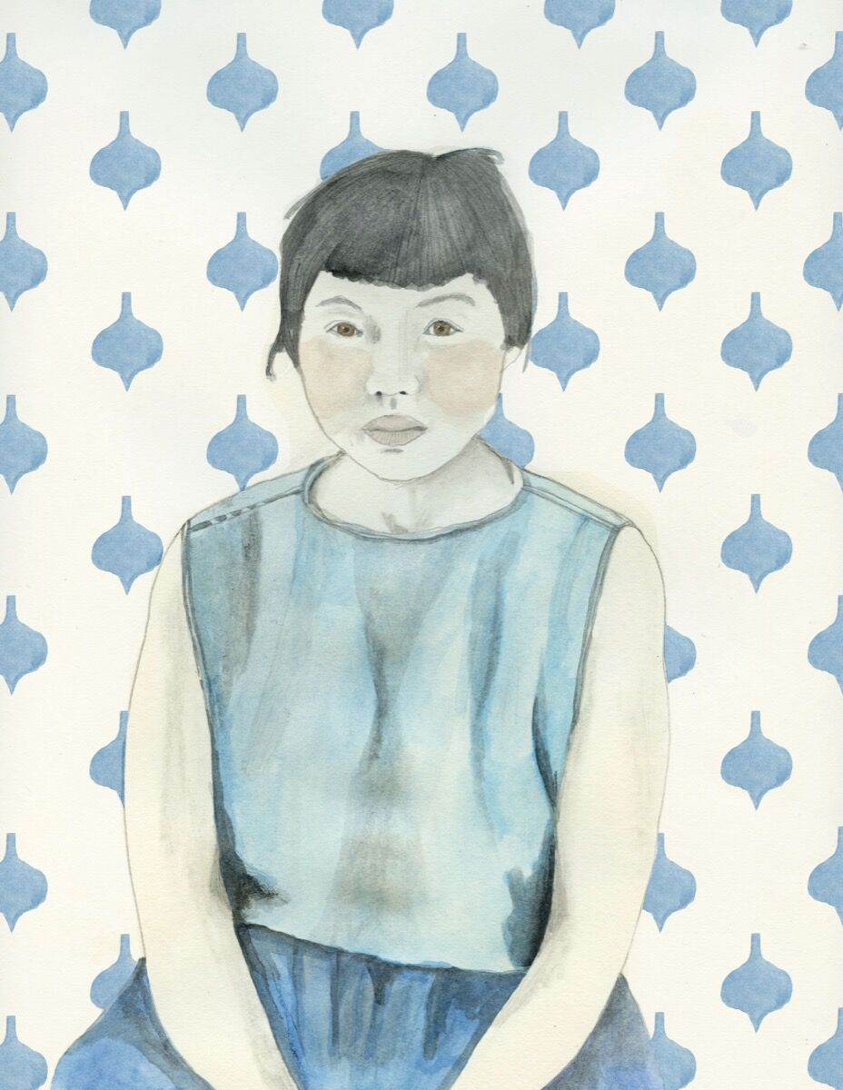 "Illustration of Ruth Asawa by Lisa Congdon. From ""Broad Strokes: 15 Women Who Made Art and Made History (in That Order)"" by Bridget Quinn. Published by Chronicle Books 2017."