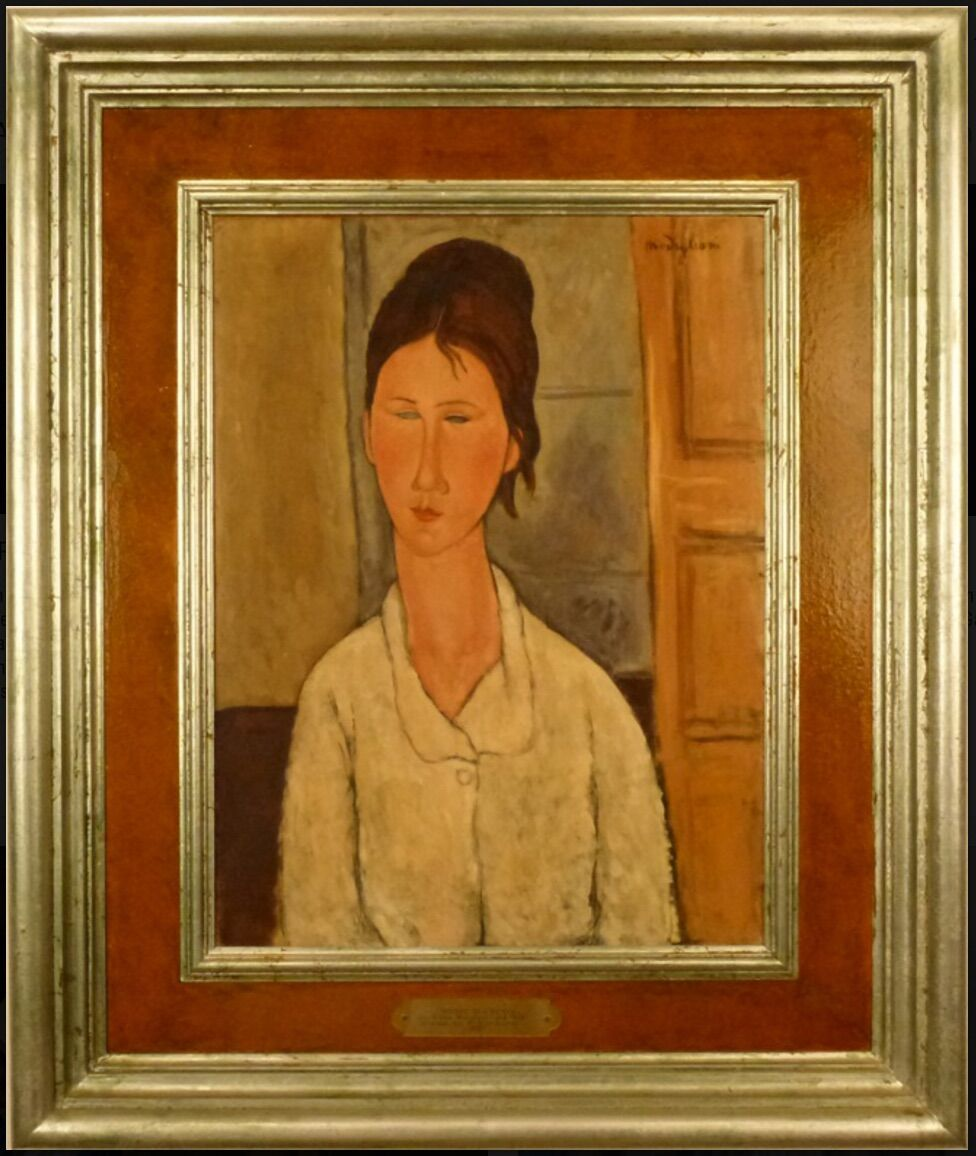 Elmyr de Hory, Portrait of a Woman, in the style of Amedeo Modigliani, ca. 1955. Collection of Scott Richter and Pamela Richter-Lenon. Courtesy of the Winterthur Museum.