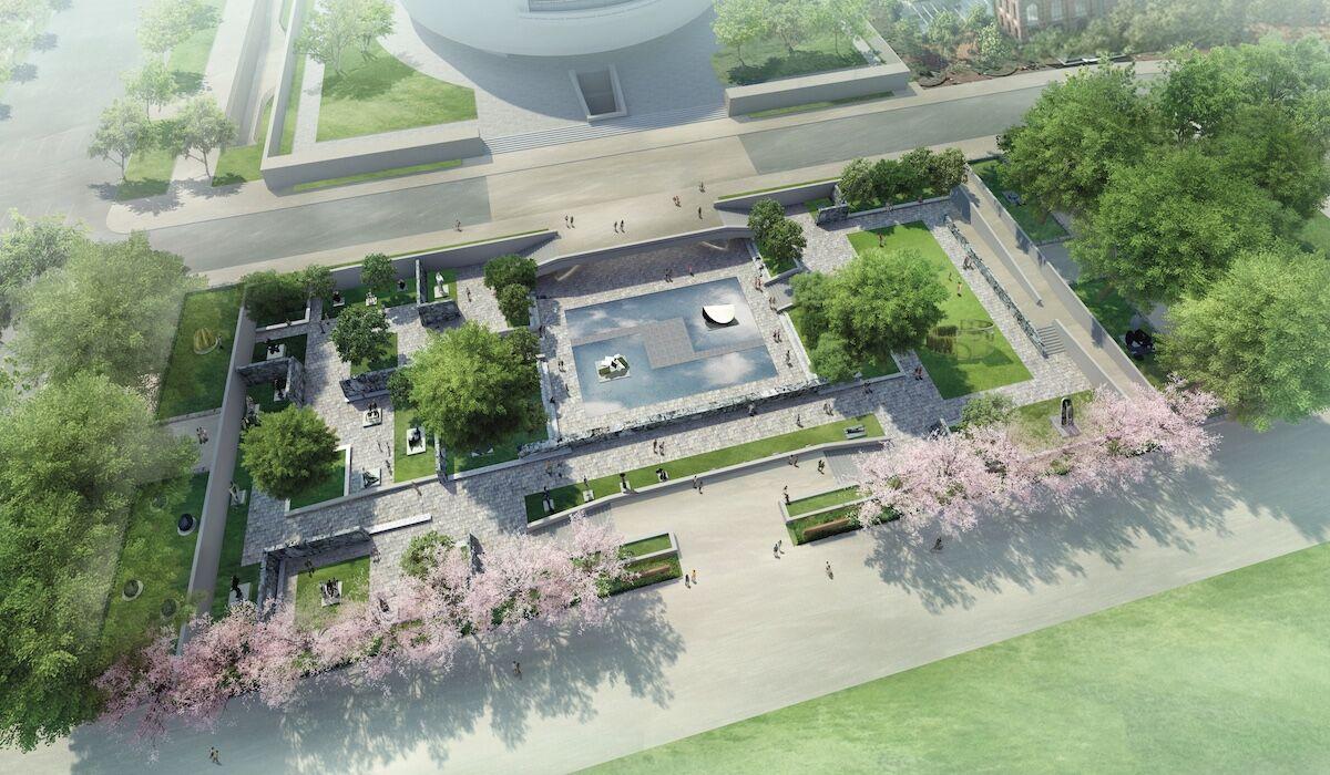 A rendering of the redesigned Hirshhorn Sculpture Garden. Courtesy Hirshhorn Museum and Sculpture Garden.