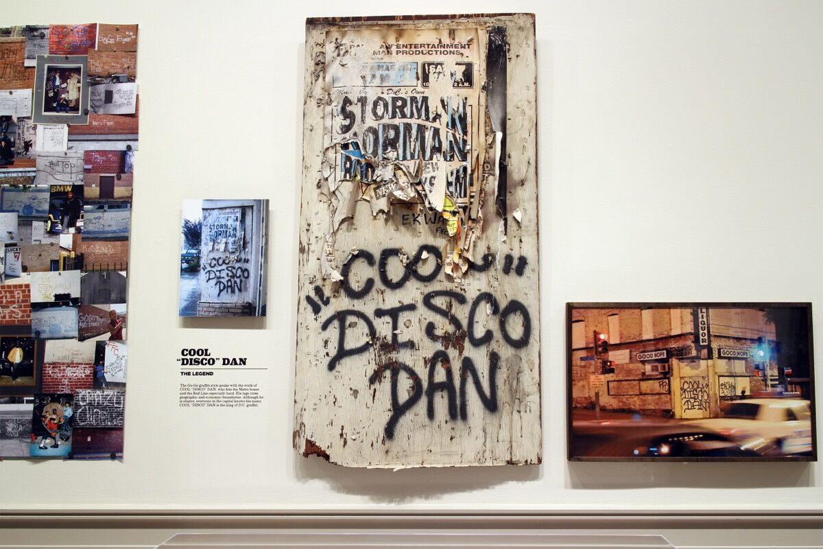 "Installation view of ""Pump Me Up: D.C. Subculture of the 1980s"" at the Corcoran Gallery of Art. Photo courtesy of the institution."