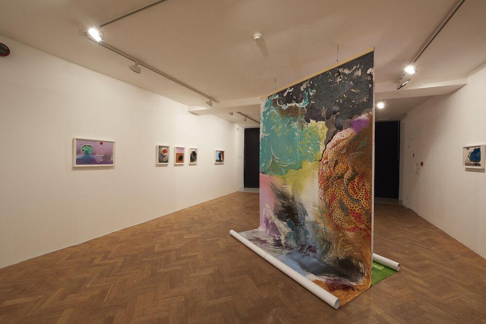 "Installation view of ""Robel Temesgen | Adbar"" at Tiwani Contemporary, 2016. Photo courtesy of Tiwani Contemporary."