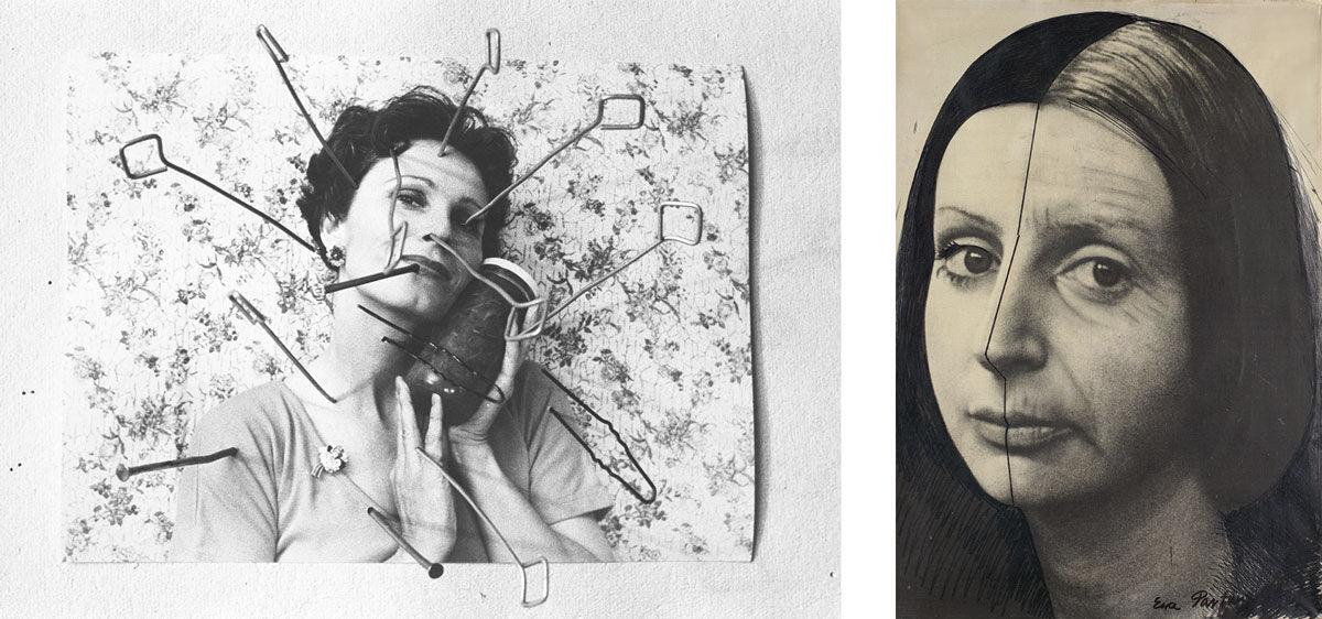 Left: Karin Mack, Zerstörung einer Illusion, 1977.© Karin Mack / SAMMLUNG VERBUND, Vienna. Right: Ewa Partum, Change, 1974.© Ewa Partum, courtesy of Galerie M+R Fricke, Berlin / Bildrecht, Vienna, 2015 / SAMMLUNG VERBUND, Vienna.
