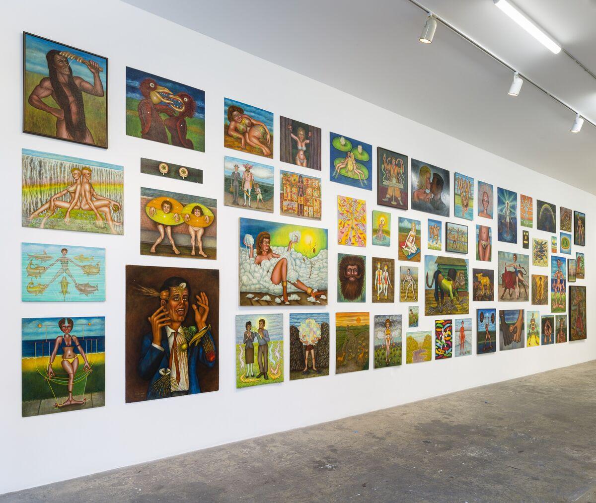 "Installation view of Bernard Gilardi, ""We Belong,"" at Shrine gallery, New York, 2019. Courtesy of Shrine."