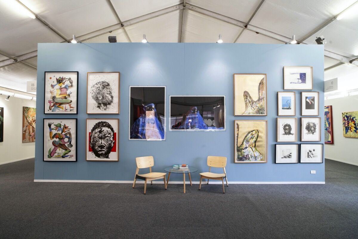 Installation view of LL Editions's booth at LATITUDES Art Fair, 2019. Courtesy of LATITUDES Art Fair.