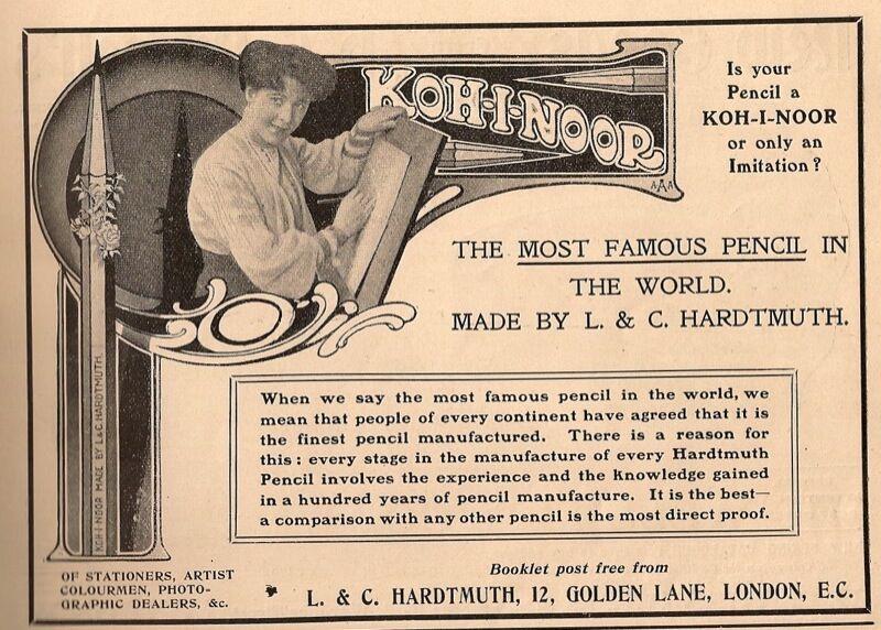 Koh-I-Noor Pencil advertisement, 1906. Image via Flickr.