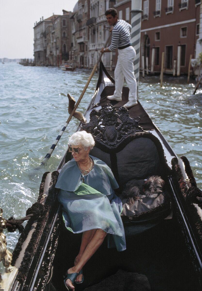 Tony Vaccaro, Peggy Guggenheim, Venice, Italy, 1968. Courtesy Tony Vaccaro Studio/Monroe Gallery.