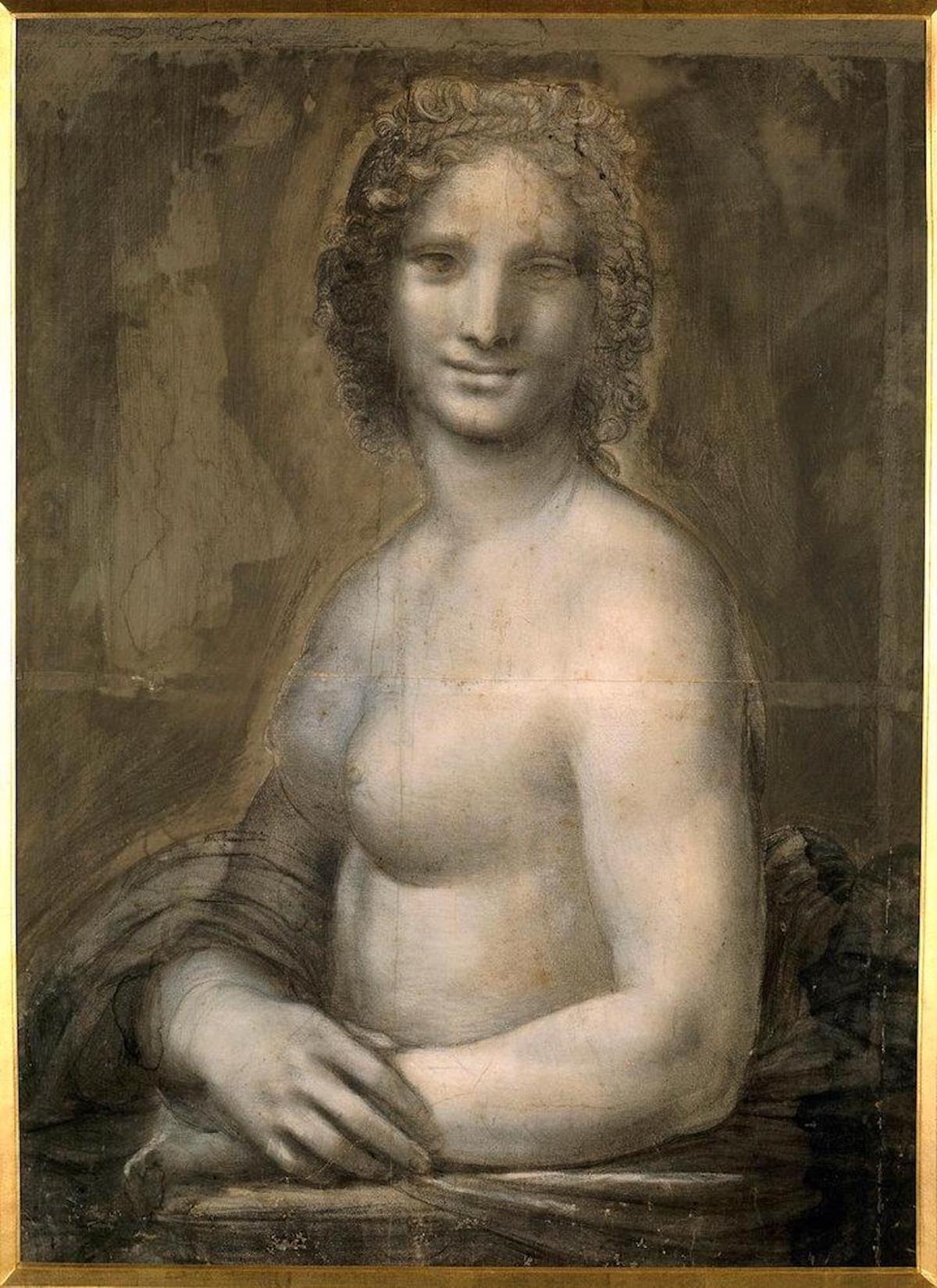 Studio of Leonardo da Vinci, Monna Vanna, c. 1503. Image by Emiliano M. Aguilera, via Wikimedia Commons.