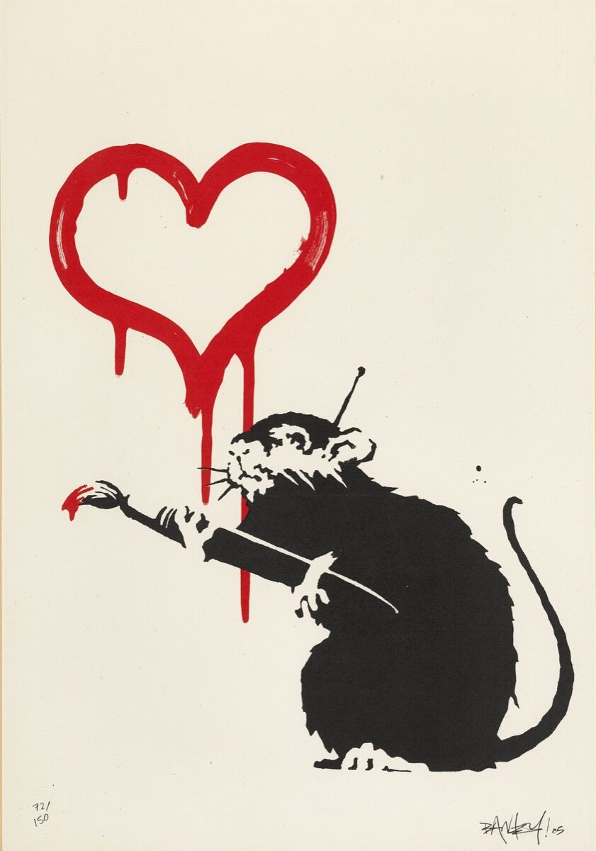 Banksy, Love Rat, 2004. Courtesy of Sotheby's.