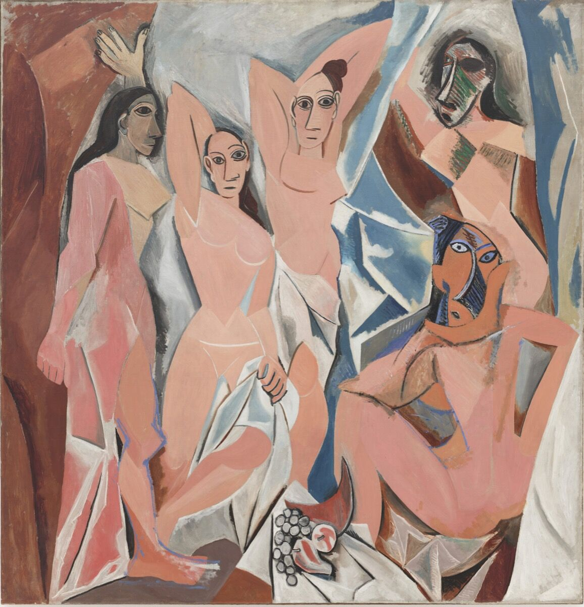 Pablo Picasso.  Les Demoiselles d'Avignon . 1907. © 2004 Estate of Pablo Picasso / Artists Rights Society (ARS), New York. Courtesy of the Museum of Modern Art.
