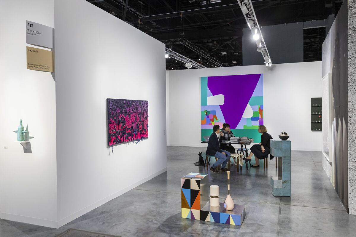 Installation view of Sies + Höke's booth at Art Basel in Miami Beach, 2018. Courtesy of Art Basel.