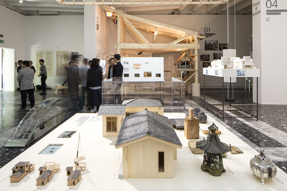 Installation view of the Japan Pavilion at the 15th International Architecture Exhibition - La Biennale di Venezia 2016. Photo by Francesco Galli, courtesy of the Japan Pavilion.