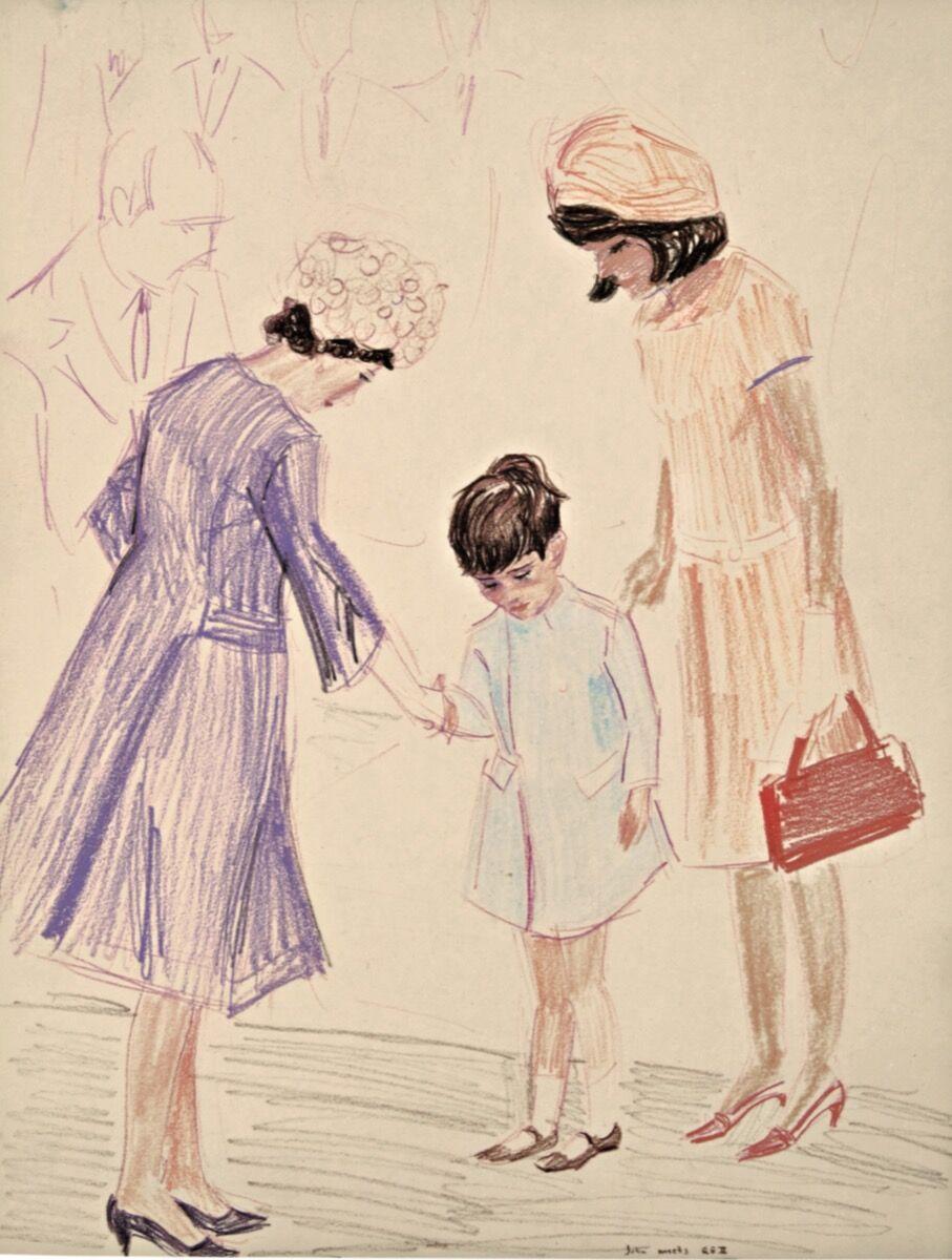 Elizabeth Peyton, John Kennedy Jr. Meets Queen Elizabeth I , 1999. Courtesy of Sotheby's.