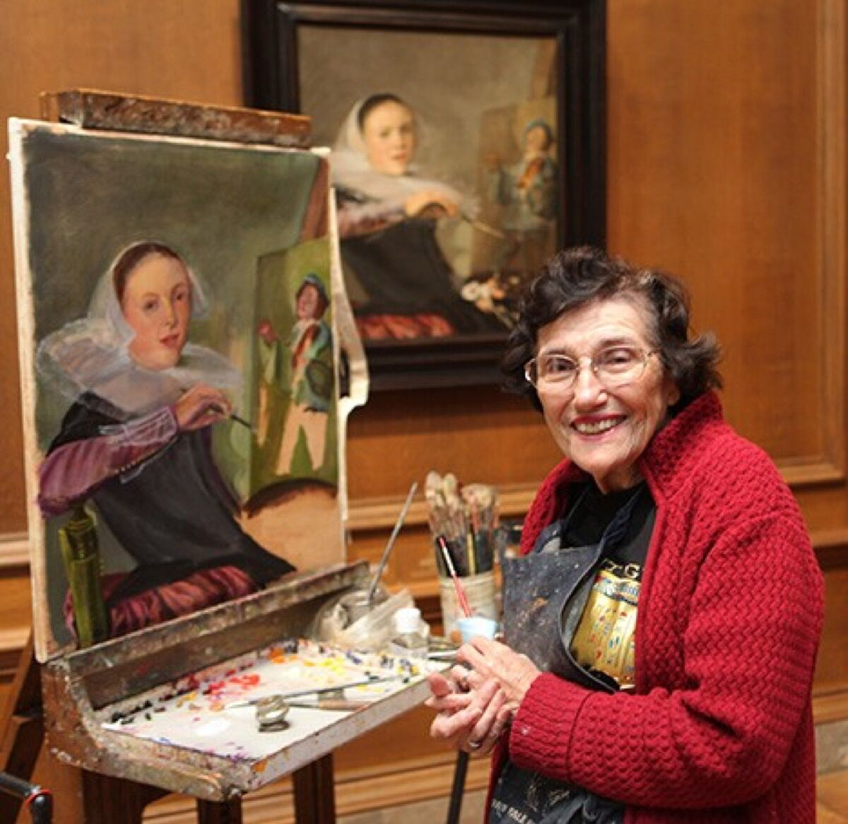 Vivian Parke painting at the National Gallery of Art, Washington, D.C. Courtesy of the National Gallery of Art, Washington, D.C.