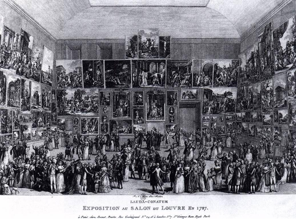 Martini, Pietro Antonio,Exposition au Salon du Louvre en 1787, 1787. Wildenstein Institute, Paris.