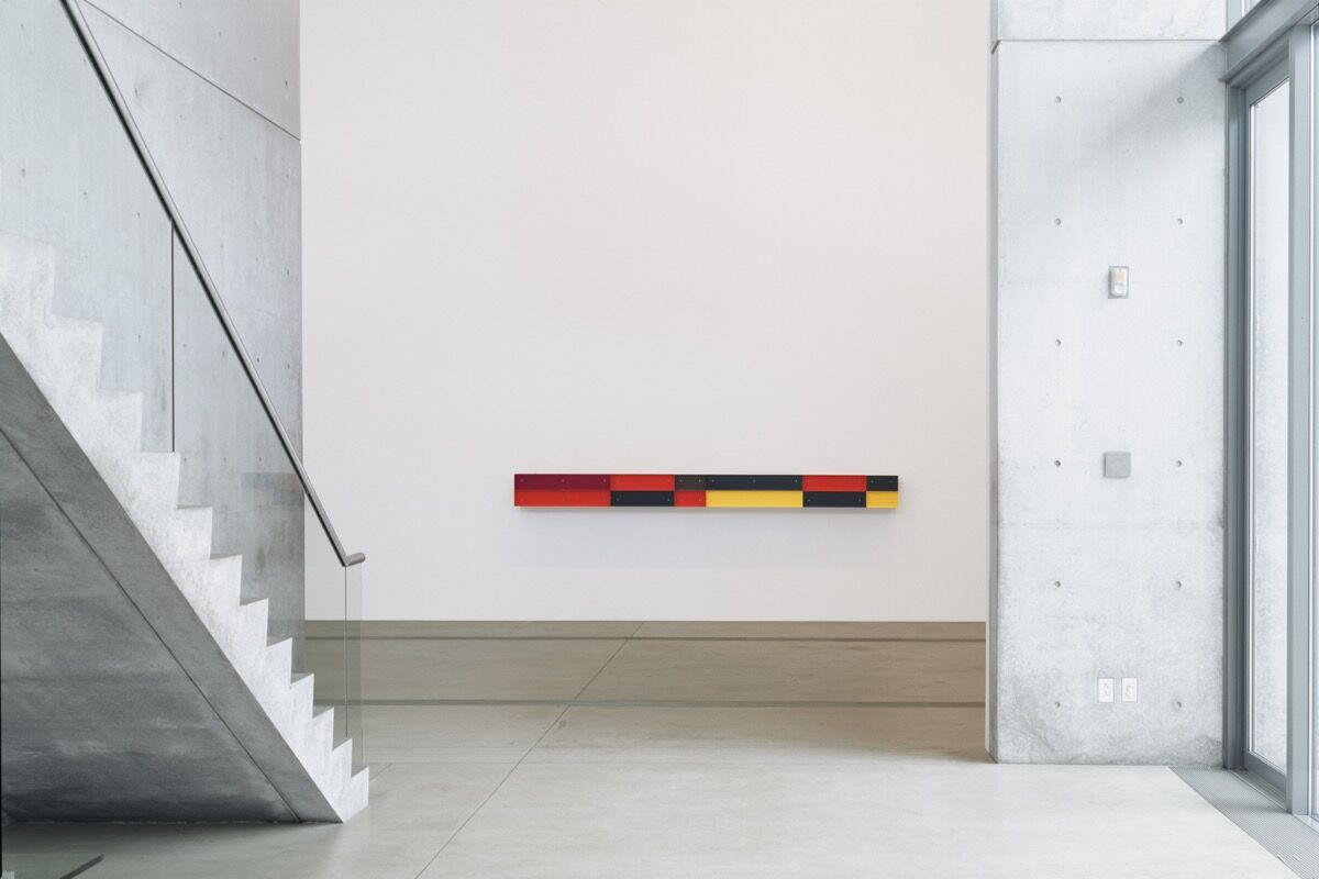 Donald Judd, Untitled, 1984. Donald Judd Art © Judd Foundation / Artists Rights Society (ARS), New York Installation view of Donald Judd: The Multicolored Works, 2013, at the Pulitzer Arts Foundation, St. Louis. Photograph by Florian Holzherr.