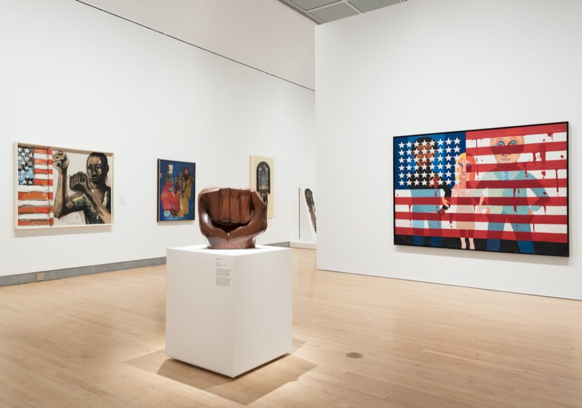 """Installation view of """"Soul of a Nation: Art in the Age of Black Power"""" at Brooklyn Museum, 2018-19. Photo by Jonathan Dorado, Brooklyn Museum. Courtesy of Brooklyn Museum."""
