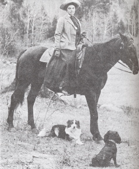 Photo of Emily Carr and some of her pets. Image via Wikimedia Commons.
