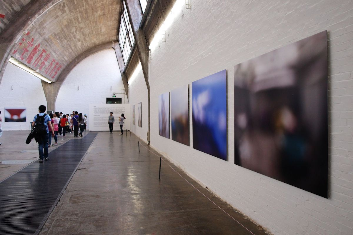 An exhibition in the 798 Art Zone in Beijing. Photo by Dianlin Huang, via Flickr.