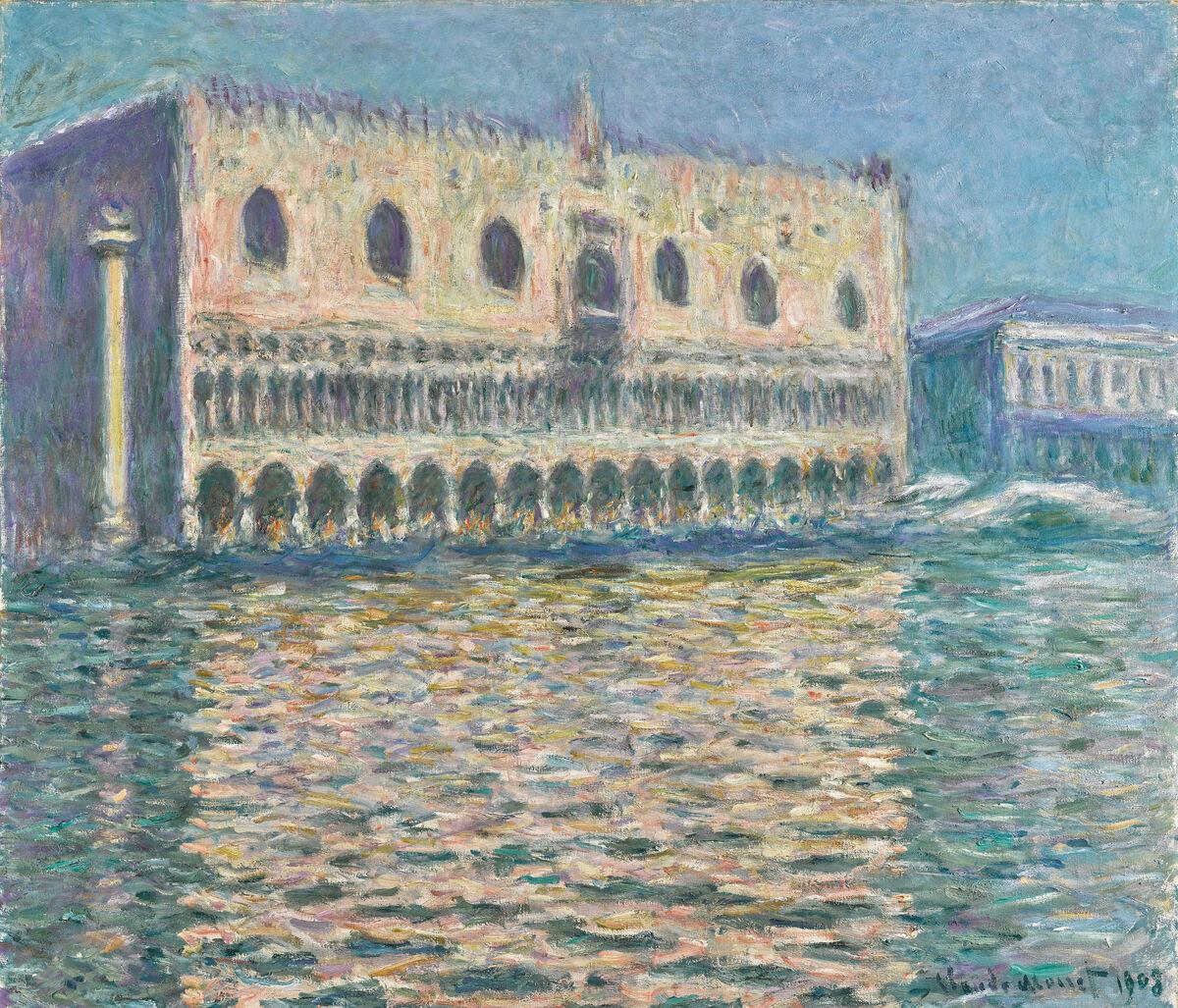 Claude Monet,  Le Palais Ducal,  1908. Courtesy of Sotheby's.