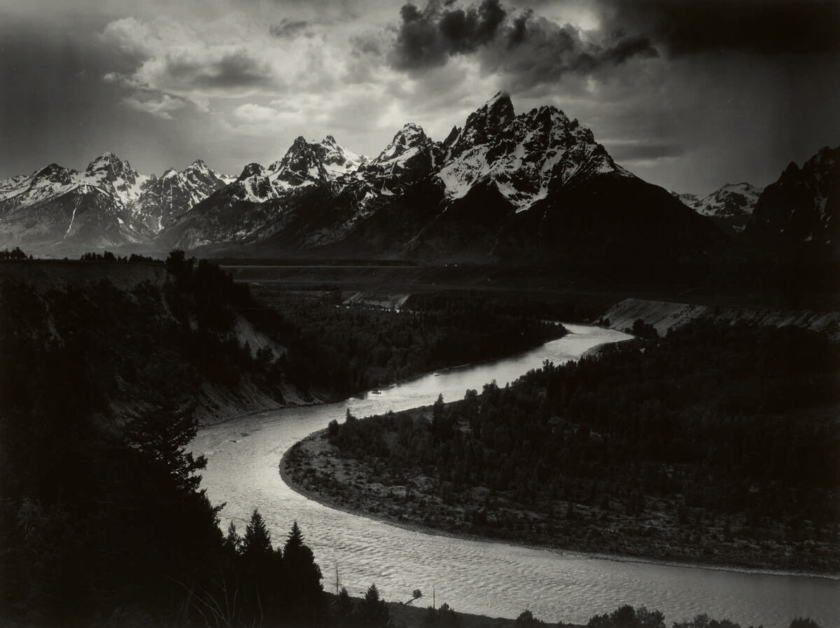 Ansel Adams, The Grand Tetons and the Snake River, Grand Teton National Park, Wyoming (1942). Courtesy Sotheby's.