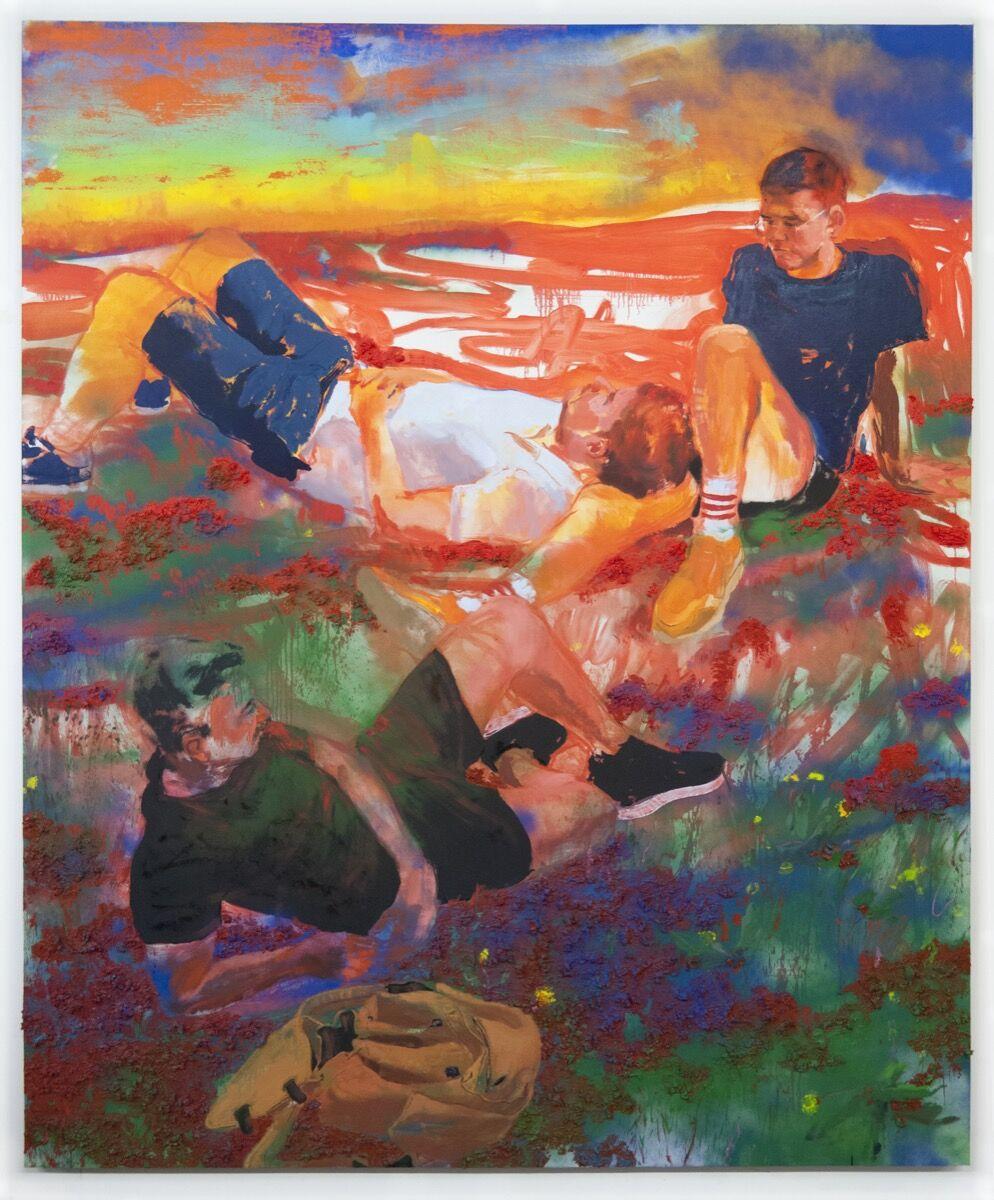 Doron Langberg, Kyle, Robert, and James, 2019. © Doron Langberg. Courtesy of Yossi Milo Gallery, New York.