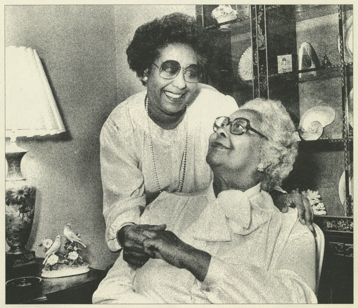 Portrait of Dr. Clayton and her mother Williabell. Courtesy of Pennsylvania Academy of the Fine Arts, Philadelphia.