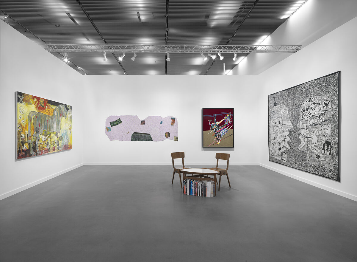 Installation view of Garth Greenan Gallery's booth at Frieze New York, 2021. Courtesy of Garth Greenan Gallery.