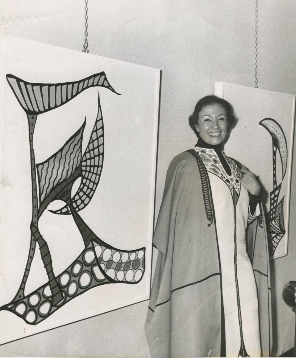 Huguette Caland at Dar Al Fan, Beirut, Lebanon, 1970. © Huguette Caland.