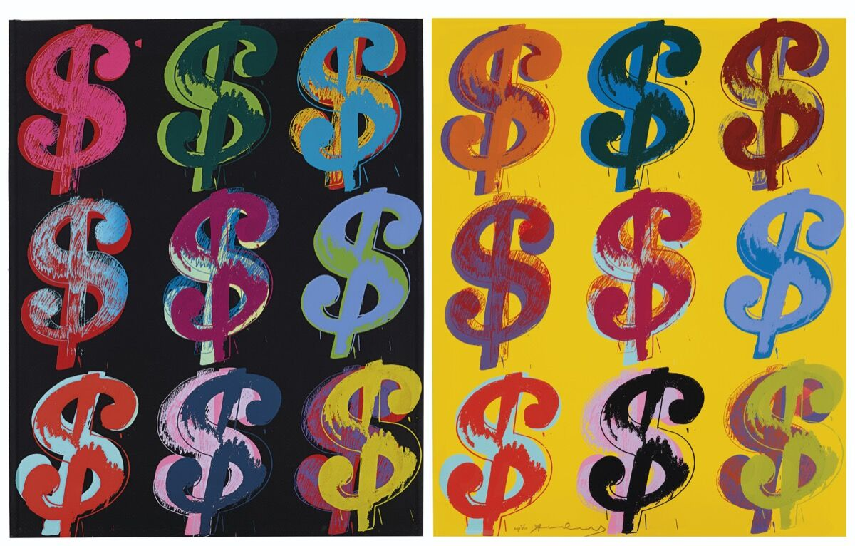Andy Warhol, $ (9), 1982. Courtesy of Christie's.