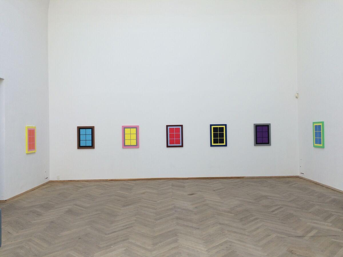 "Installation view of ""SevenWindows (series of 7 lithographs each 76x56 cm)"" (2015),courtesy Edition Copenhagen."