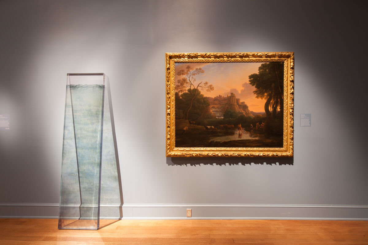 """Installation view ofDawn DeDeaux's""""Water Markers."""" Photo byRoman Alokhin for the New Orleans Museum of Art."""