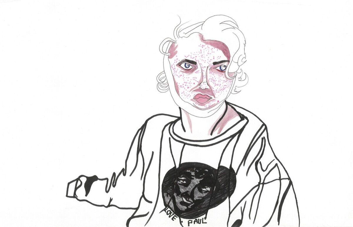 Alia Shawkat, Face Bandage. Courtesy of the artist.