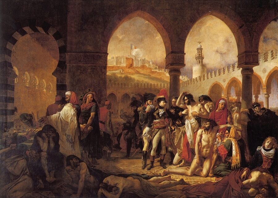 Antoine-Jean Gros, Bonaparte Visiting the Victims of the Plague at Jaffa, March 11, 1799, 1804.