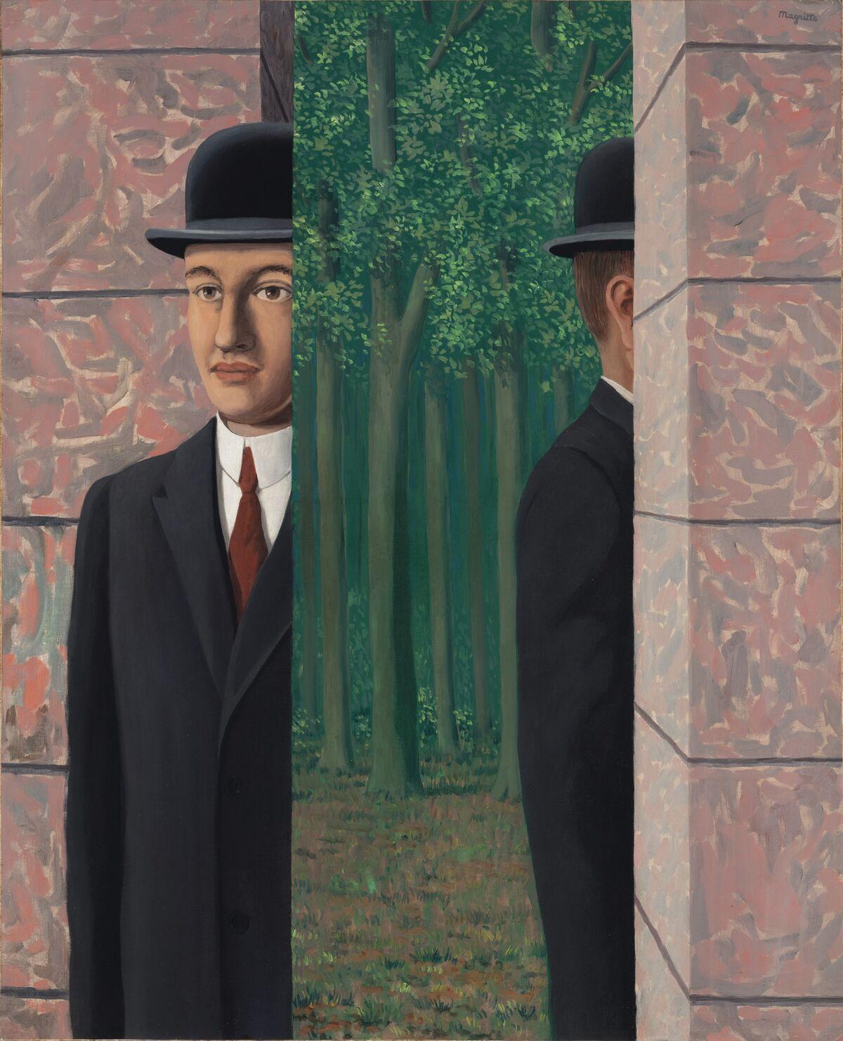 René Magritte, Le Lieu commun,  1964. Courtesy of Christie's Images Ltd. 2019.