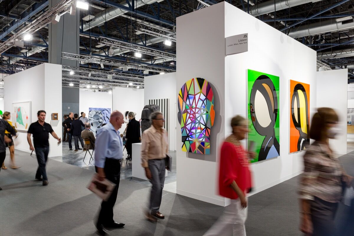 Installation view of Lisson Gallery's booth at Art Basel in Miami Beach, 2016. Photo by Alain Almiñana for Artsy.