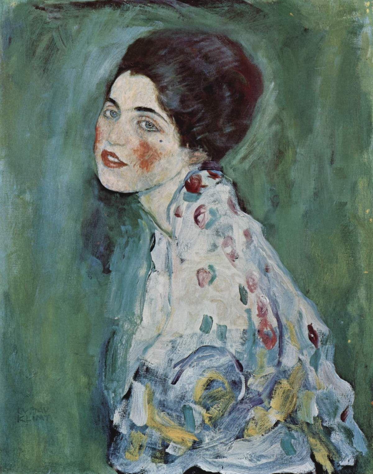 Gustave Klimt, Portrait of a Lady, 1917. Via Wikimedia Commons.