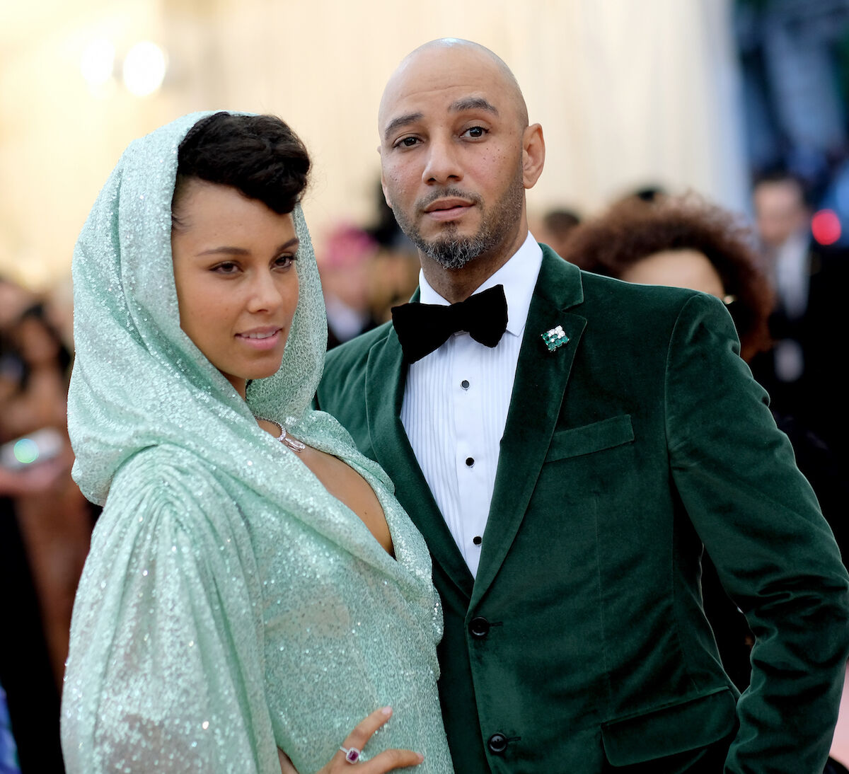 Alicia Keys and Swizz Beatz at the 2019 Met Gala. Photo by Dimitrios Kambouris/Getty Images for The Met Museum/Vogue.