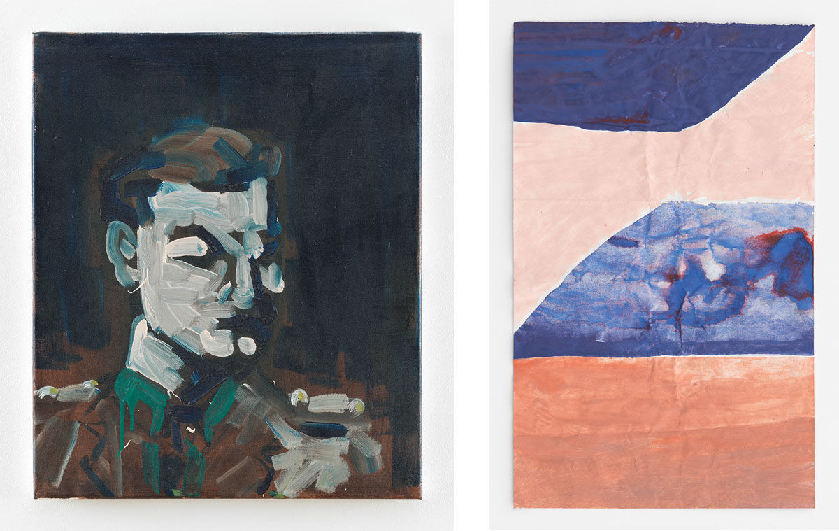 Left: Spike Blake, Portrait of an Officer (2010); Right: Ben Berlow, Untitled (2014). Courtesy the artists and David Zwirner, New York/London.