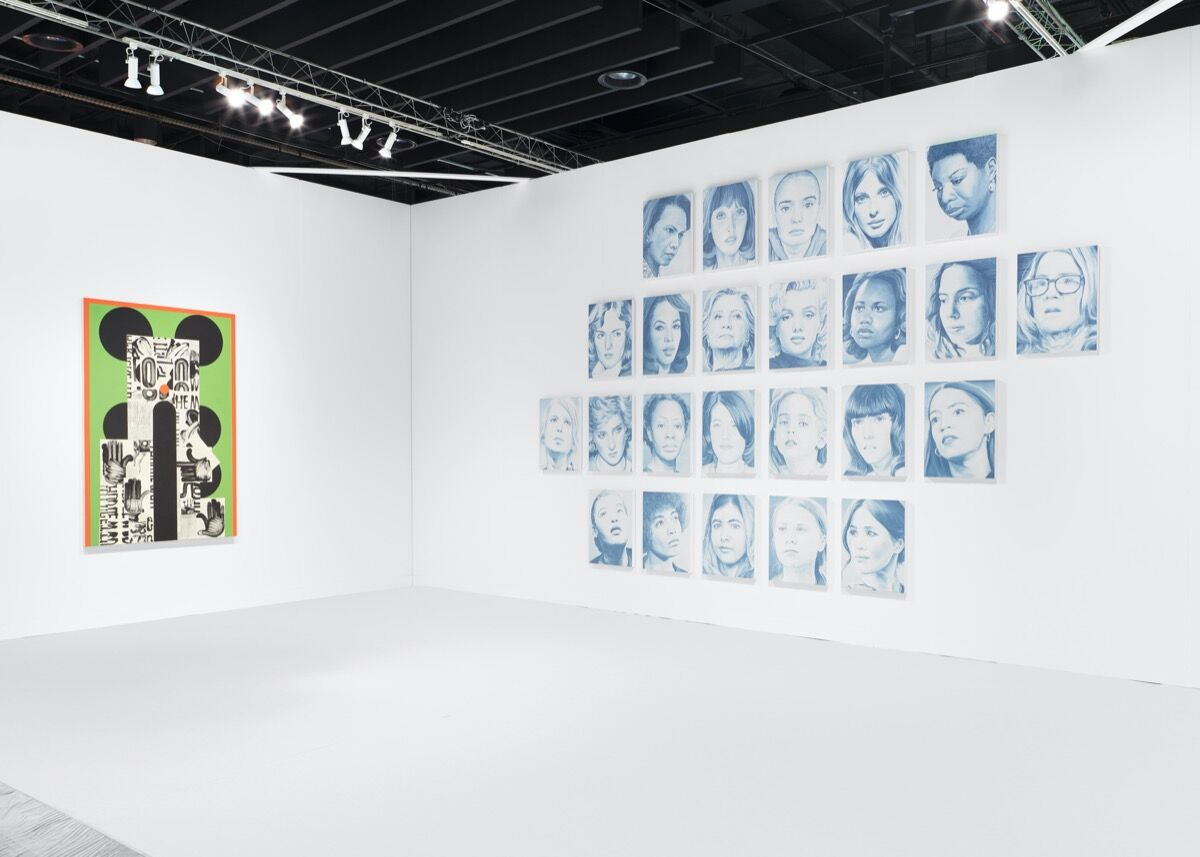 Installation view of Night Gallery's booth at The Armory Show, New York, 2020. Photo by Matthew Booth. Courtesy of Night Gallery, Los Angeles.