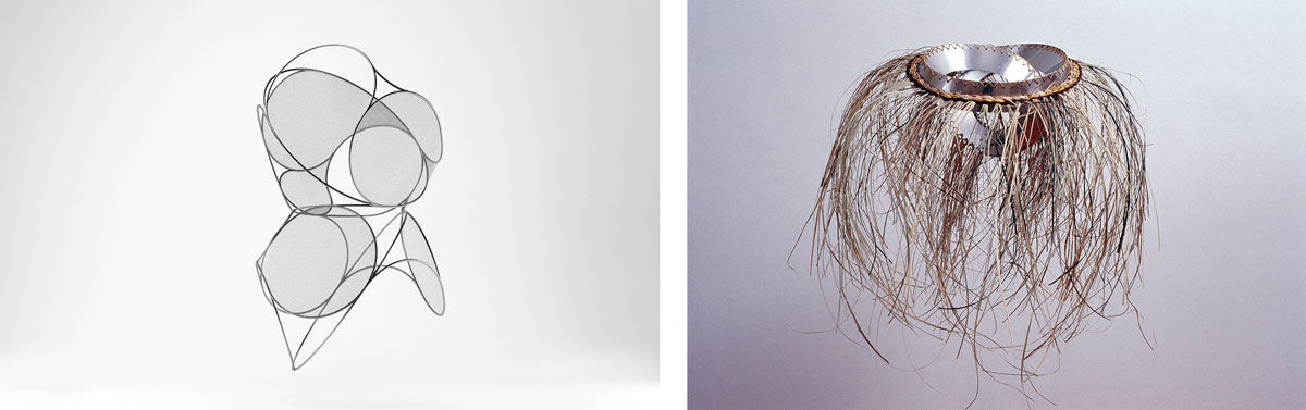 Left: Wire Coil 04, 2016. Right: Knot Basket, 2016. Images courtesy of Aranda/Lasch and Terrol Dew Johnson.