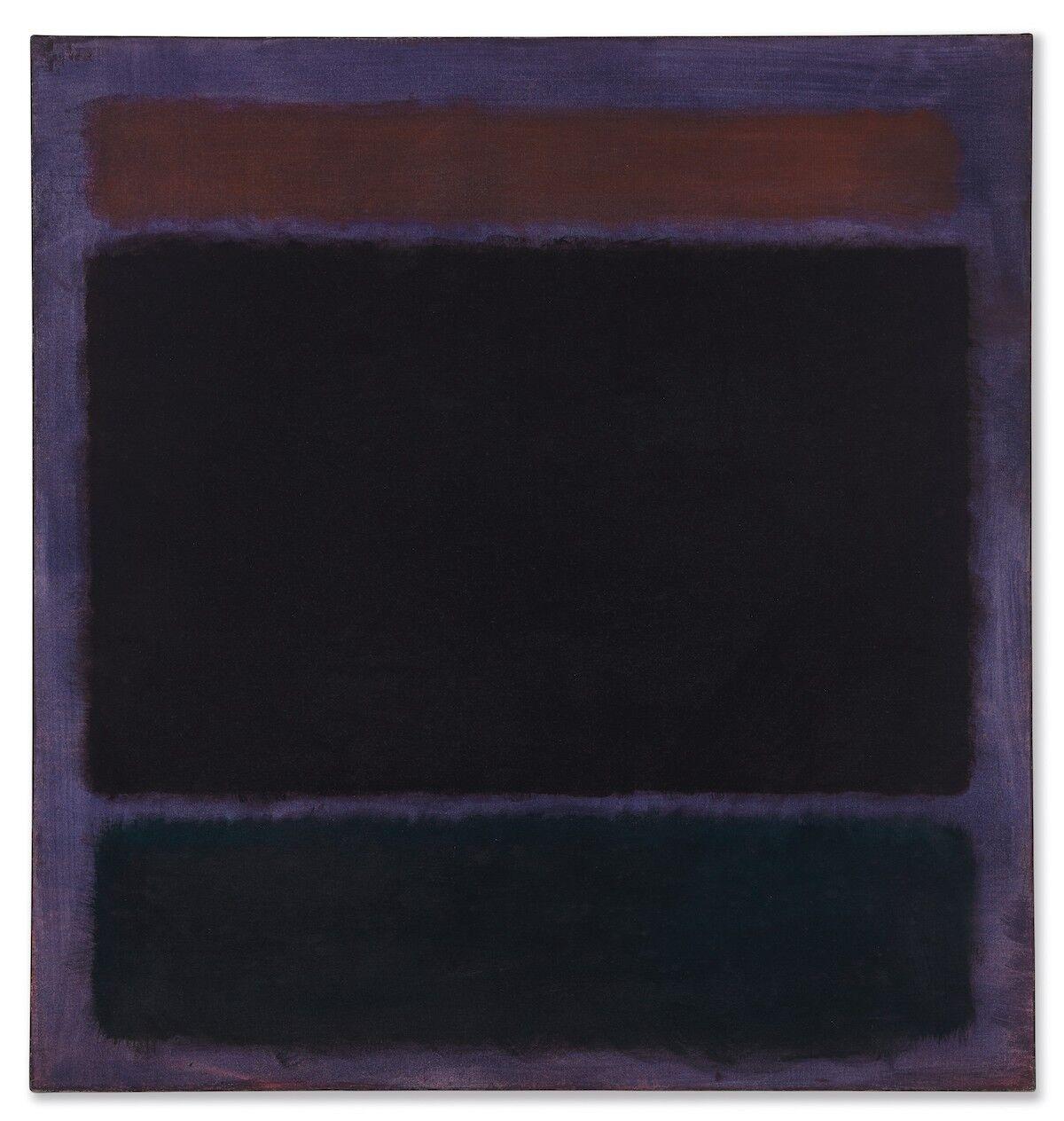 Mark Rothko, Untitled (Rust, Blacks on Plum), 1962. Est. $35–45 million. Courtesy Christie's.