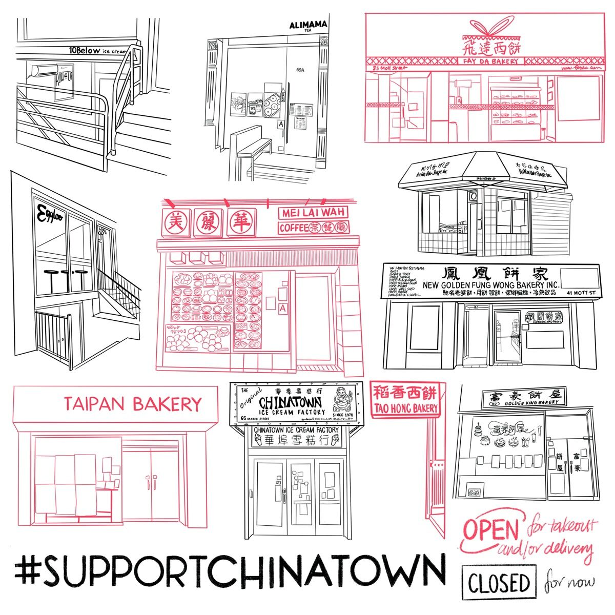 """Felicia Liang, March 22, 2020 from """"#SupportChinatown,"""" 2020. Courtesy of the artist."""