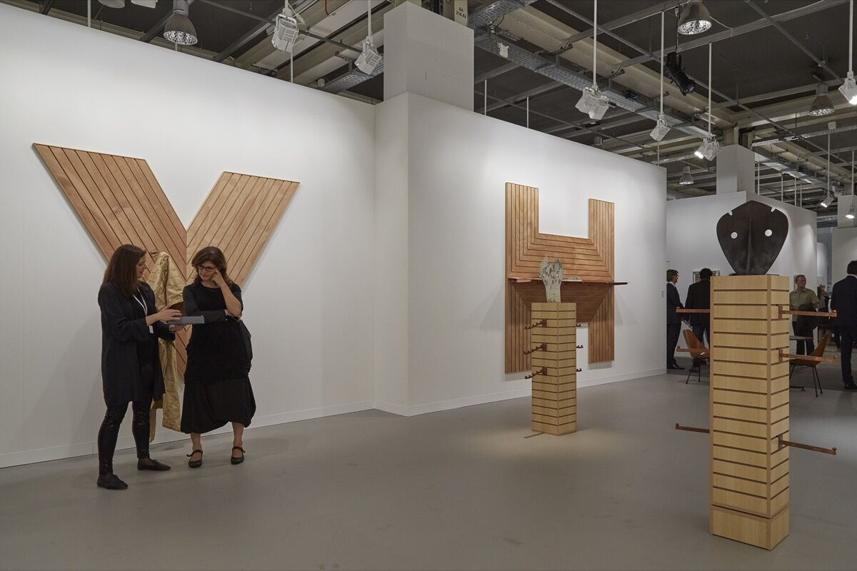 Installation view of OMR's booth at Art Basel, 2016. Photo by Benjamin Westoby for Artsy.