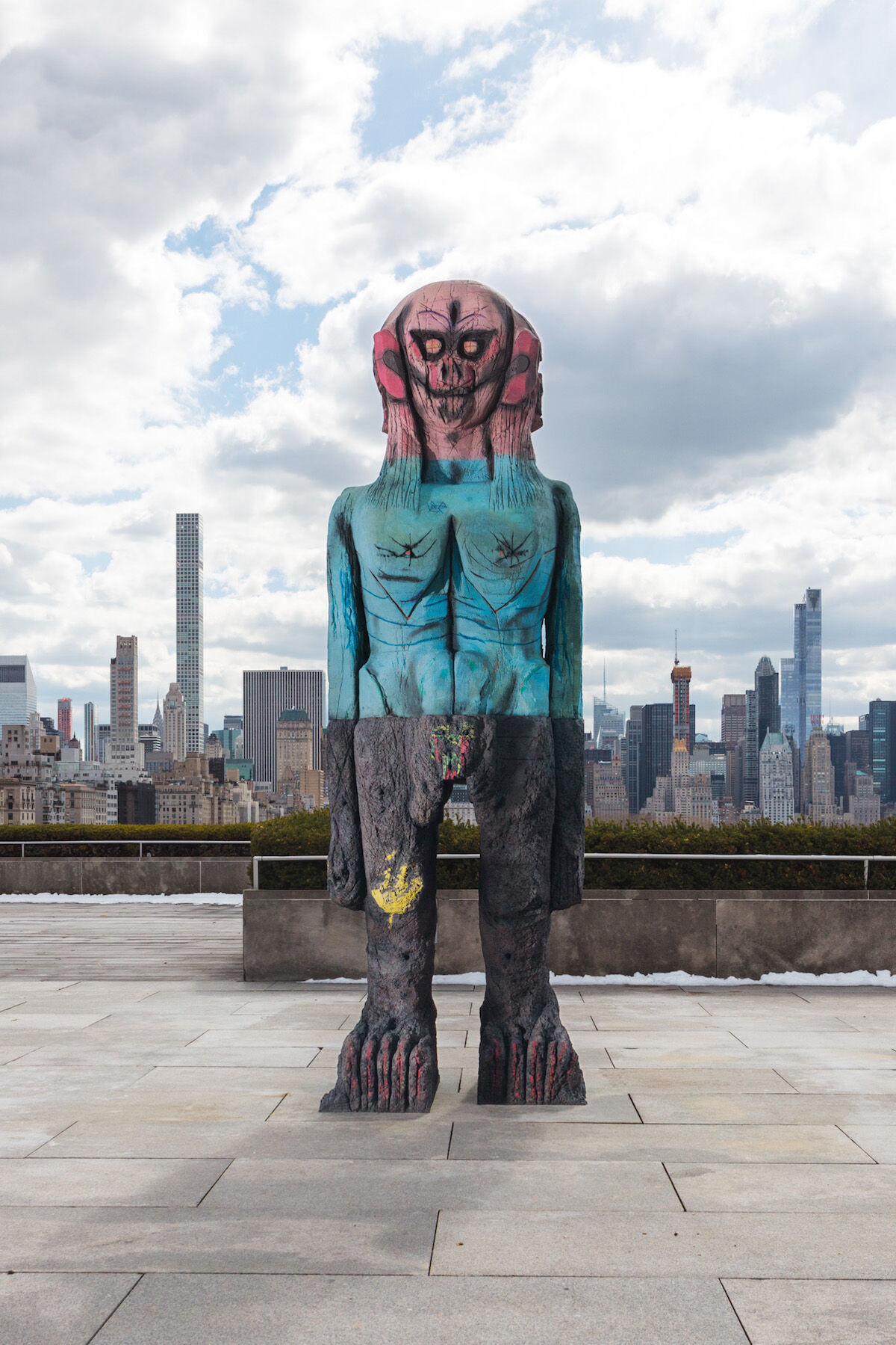 Huma Bhabha, We Come in Peace, 2018. Roof Garden Commission, Metropolitan Museum of Art, New York. Courtesy of the artist and Salon 94, New York.