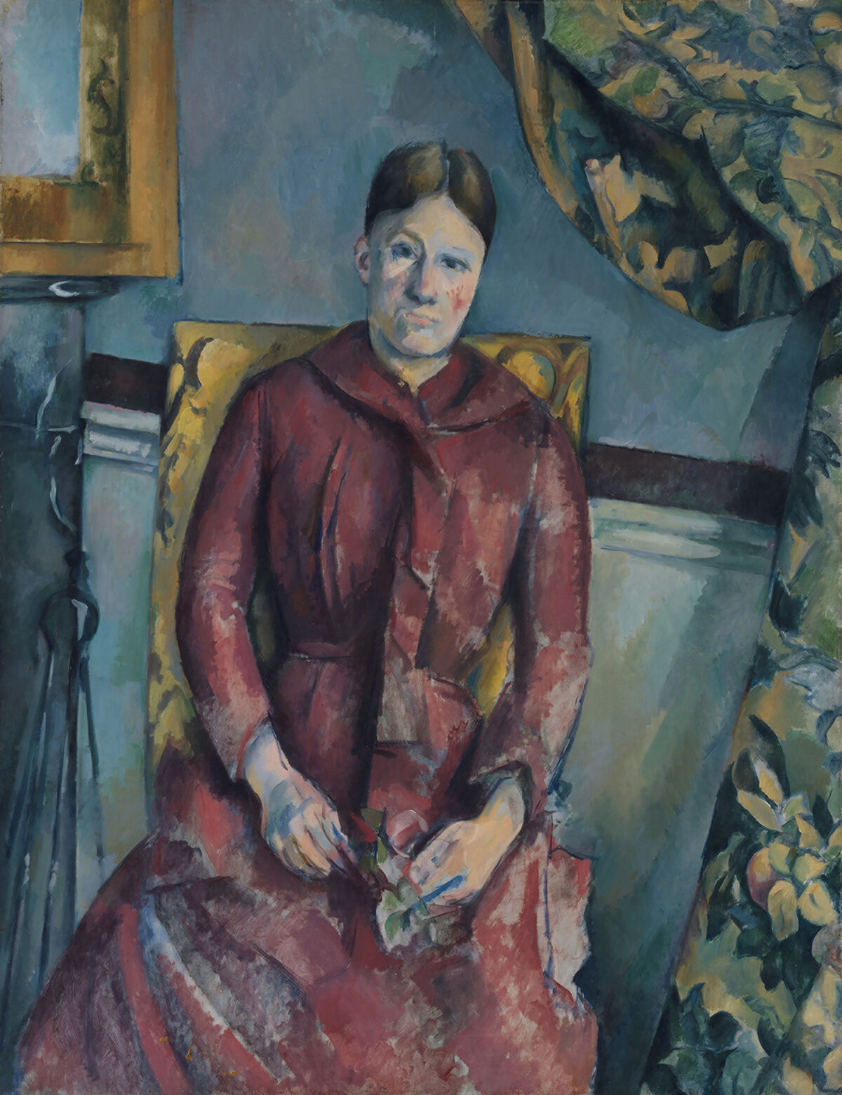 Paul Cézanne, Madame Cézanne in a Red Dress, c. 1888 - 1890. Courtesy of the National Gallery of Art.