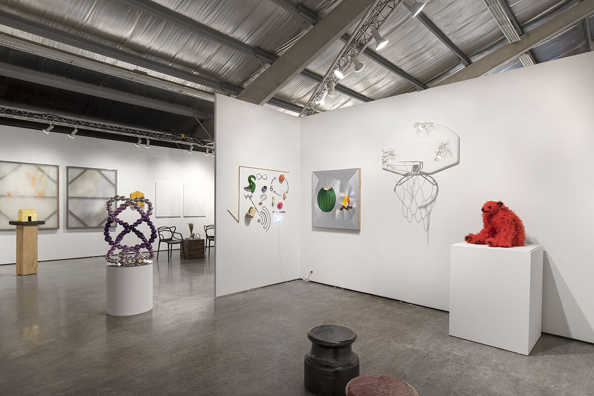 Installation view of Perrotin's booth at Intersect Aspen 2021. Courtesy of Perrotin and Intersect Aspen.