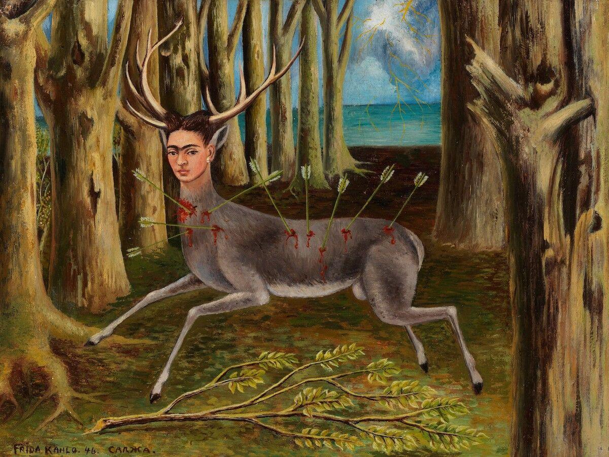 Frida Kahlo, La Venadita (The Little Deer), 1946. © 2019 Banco de México Diego Rivera Frida Kahlo Museums Trust, Mexico, D.F. / Artists Rights Society (ARS), New York.