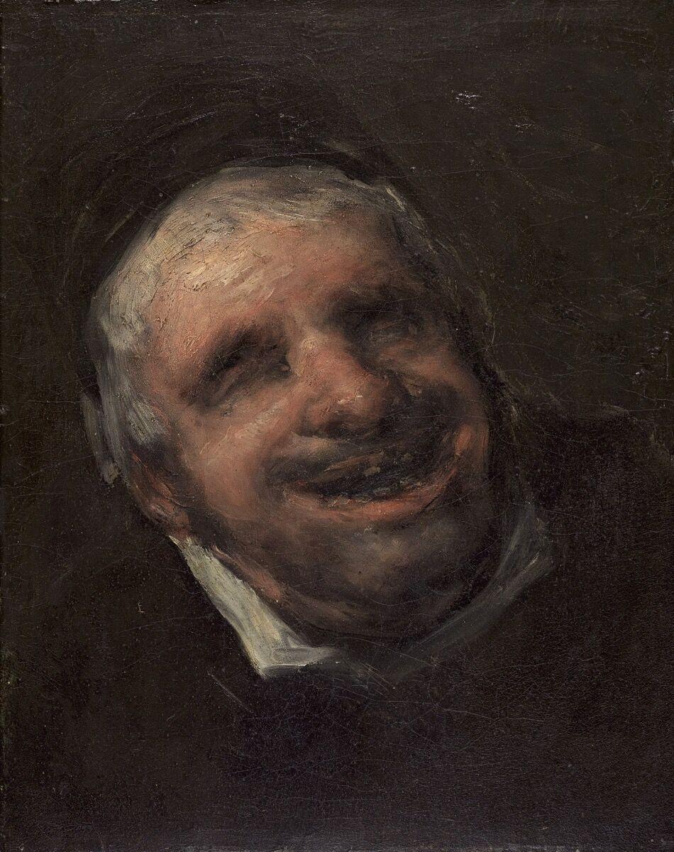 Francisco de Goya, El tío Paquete, 1819–20. Photo via Wikimedia Commons.