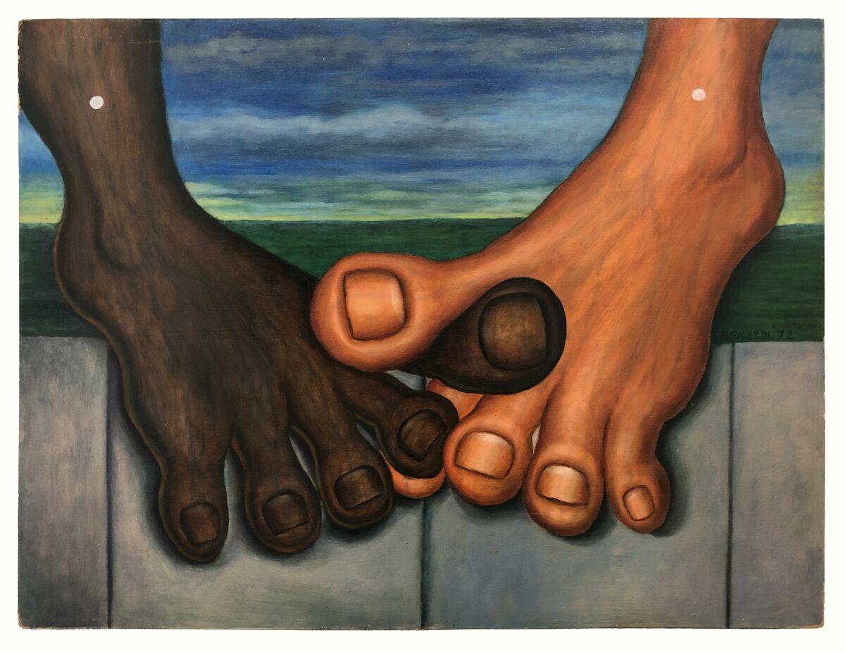 Bernard Gilardi,  Untitled (big toes intertwined),  1972. Courtesy of Shrine.